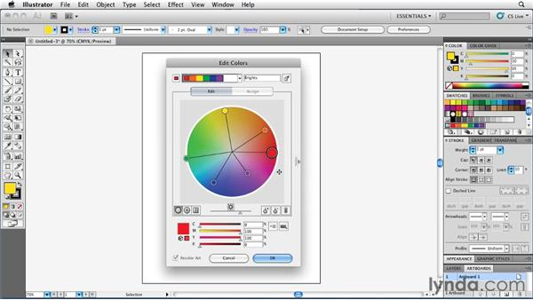 Editing color groups with the color wheel: Illustrator Insider Training: Coloring Artwork