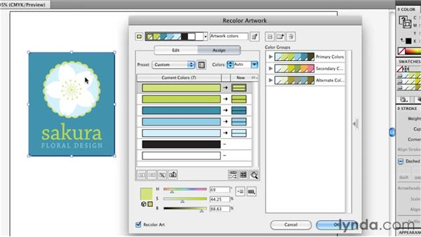 Protecting black, white, and gray: Illustrator Insider Training: Coloring Artwork