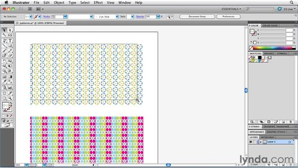 Changing the colors within patterns: Illustrator Insider Training: Coloring Artwork