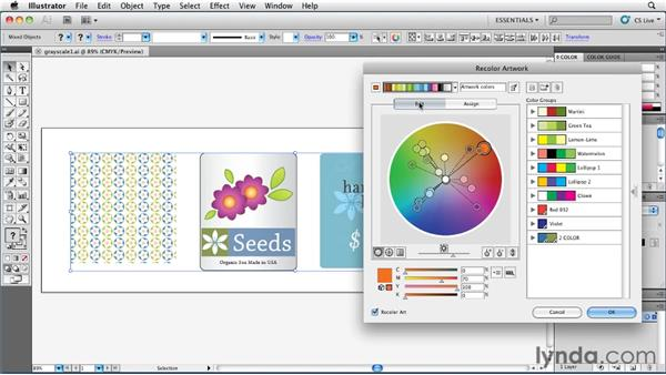 Converting color to grayscale: Illustrator Insider Training: Coloring Artwork