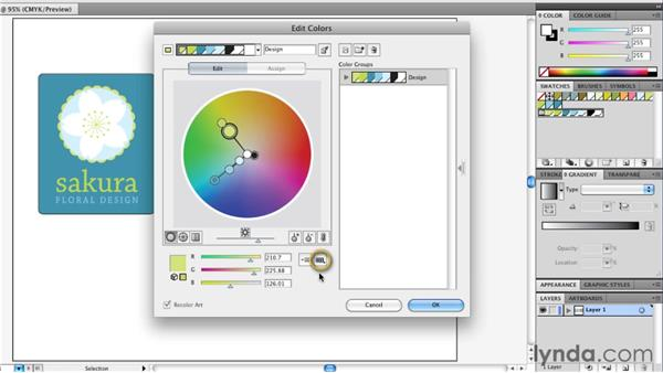 Finding spot equivalents of process colors: Illustrator Insider Training: Coloring Artwork