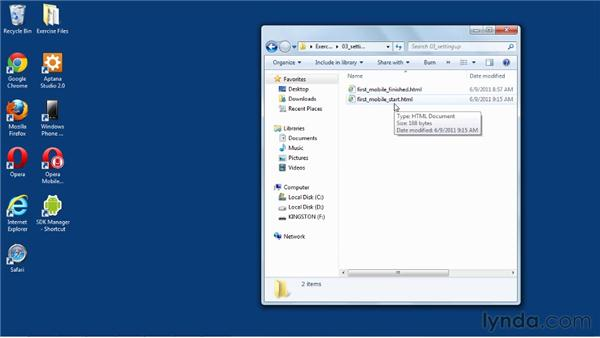 Using the exercise files: Mobile Web Design & Development Fundamentals