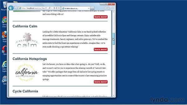Previewing a complete mobile site: Mobile Web Design & Development Fundamentals