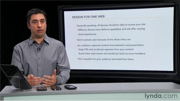 Designing for one web: Mobile Web Design & Development Fundamentals