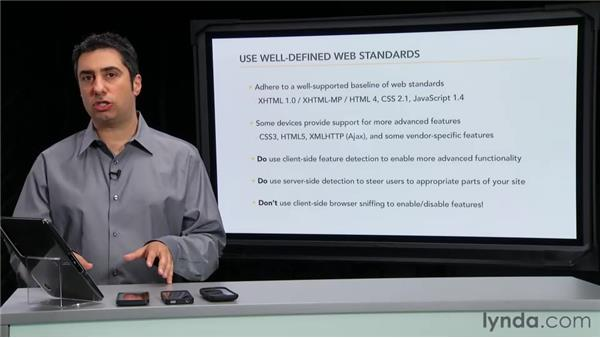 Using well-defined web standards: Mobile Web Design & Development Fundamentals