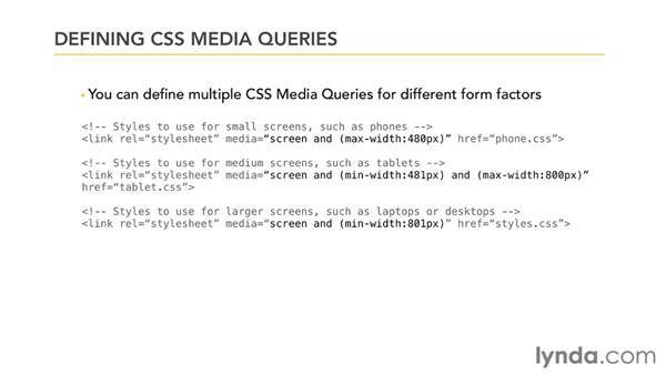 Using CSS media queries: Mobile Web Design & Development Fundamentals
