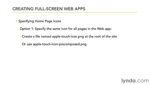 Creating full-screen web apps: Mobile Web Design & Development Fundamentals
