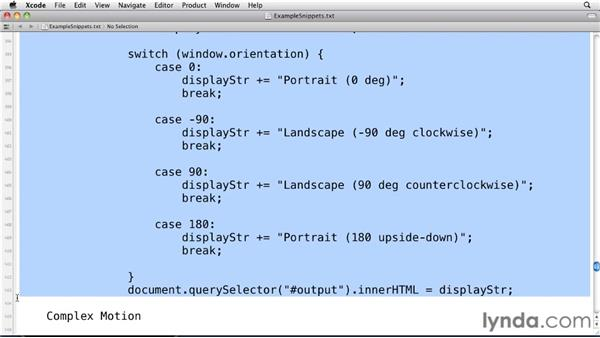 Detecting orientation changes: Mobile Web Design & Development Fundamentals