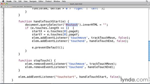 Using touch events: Mobile Web Design & Development Fundamentals