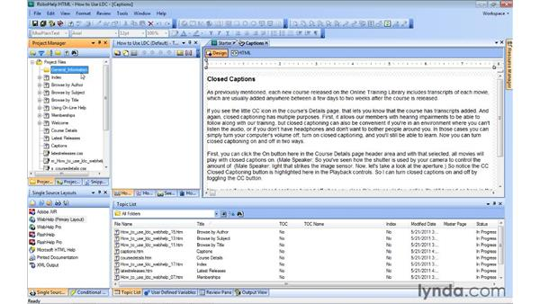 Creating project folders: RoboHelp 9 HTML Essential Training