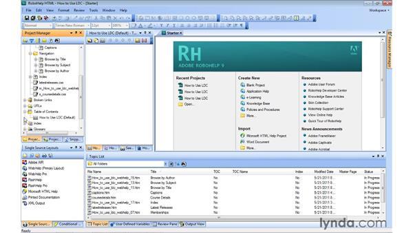 Auto-creating a TOC: RoboHelp 9 HTML Essential Training