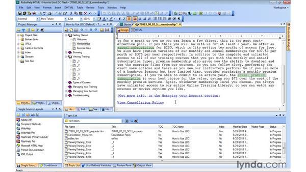 Using auto-sizing pop-ups: RoboHelp 9 HTML Essential Training