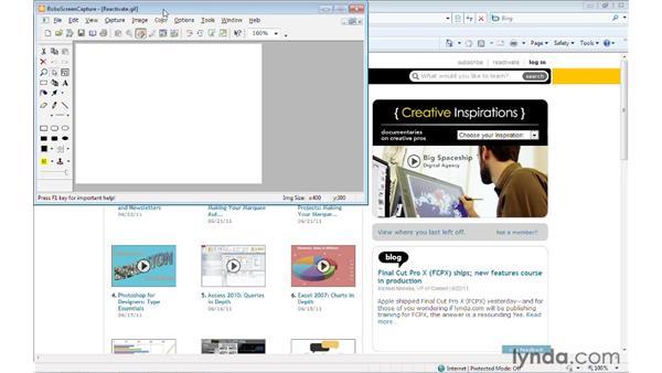 Creating a screen capture: RoboHelp 9 HTML Essential Training