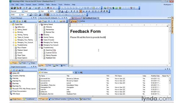 inserting forms and form elements