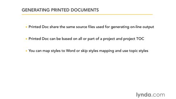 About printed documents: RoboHelp 9 HTML Essential Training