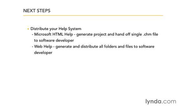 Next steps: RoboHelp 9 HTML Essential Training