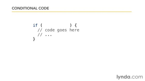 Working with conditional code: JavaScript Essential Training