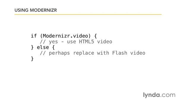 Using Modernizr: JavaScript Essential Training