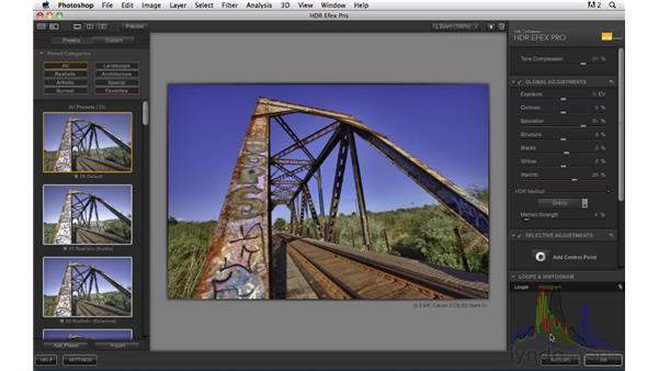 Processing the trestle image: Shooting and Processing High Dynamic Range Photographs (HDR)