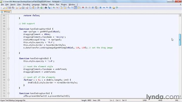 Exploring the RPS code: HTML5: Drag and Drop in Depth