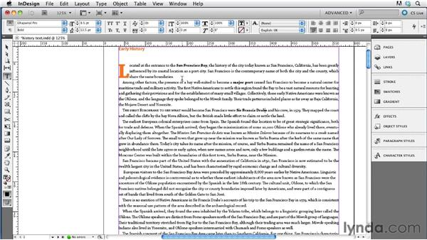 Applying paragraph and character styles: InDesign CS5.5 to EPUB, Kindle, and iPad