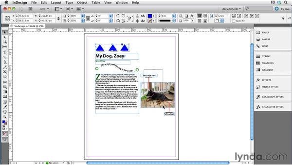 Converting InDesign objects to images: InDesign CS5.5 to EPUB, Kindle, and iPad