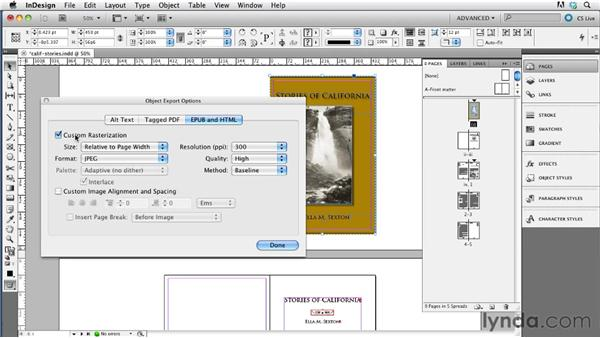 Creating a cover image: InDesign CS5.5 to EPUB, Kindle, and iPad