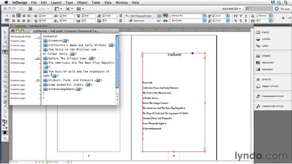 Adding a custom TOC as the first page of the EPUB file: InDesign CS5.5 to EPUB, Kindle, and iPad