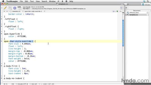 Creating drop caps: InDesign CS5.5 to EPUB, Kindle, and iPad