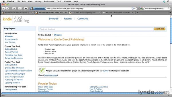 Exploring the Kindle portal: InDesign CS5.5 to EPUB, Kindle, and iPad