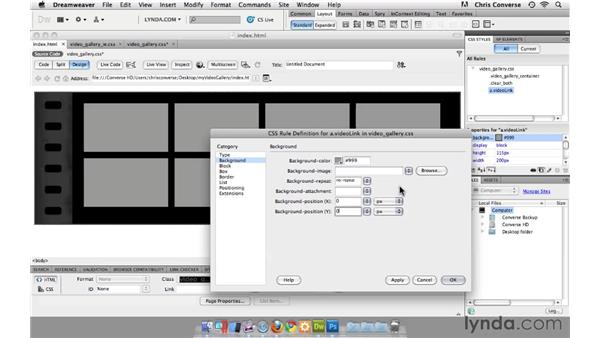 Conforming anchor links in thumbnail buttons: Create an HTML5 Video Gallery with jQuery and Dreamweaver