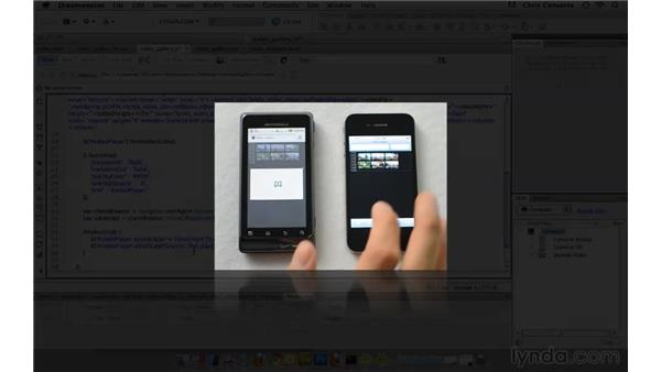 Activating video for Android and bypassing the lightbox: Create an HTML5 Video Gallery with jQuery and Dreamweaver