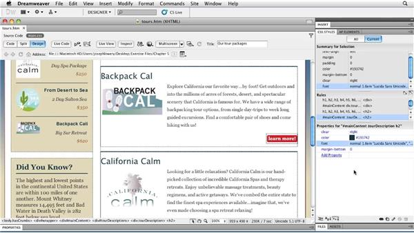 Exploring font variants: Typography with CSS in Dreamweaver