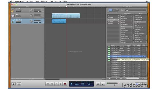 Creating a track: GarageBand '11 Essential Training