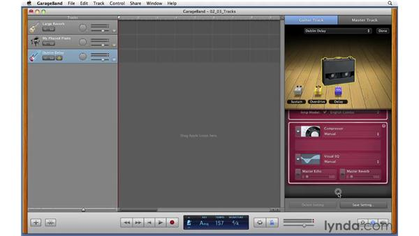 Exploring Electric Guitar tracks and monitoring: GarageBand '11 Essential Training