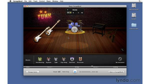 Auditioning players in the band and hiring new players: GarageBand '11 Essential Training
