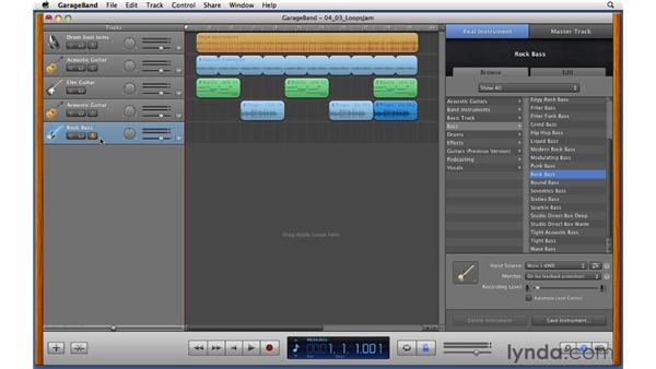 Jamming along with your composition: GarageBand '11 Essential Training