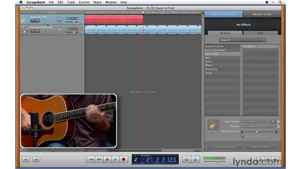 Using GarageBand as a scratchpad for recording new ideas: GarageBand '11 Essential Training