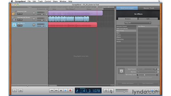 Recording multiple takes with cycle record: GarageBand '11 Essential Training
