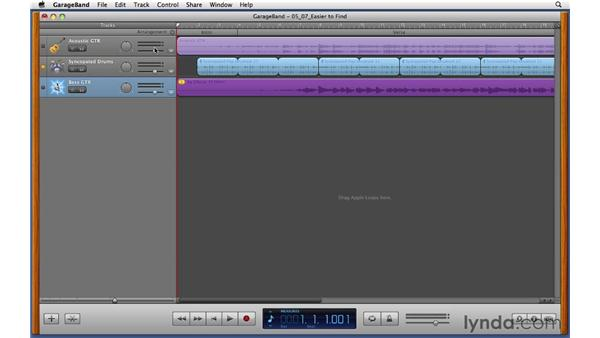 Using Groove Matching to tighten up the rhythm of a performance: GarageBand '11 Essential Training