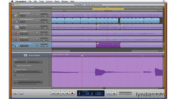 Compositing a final guitar solo from multiple takes: GarageBand '11 Essential Training
