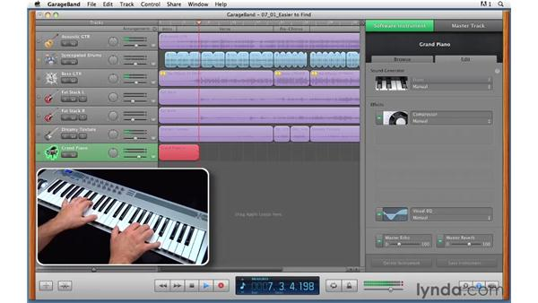 Recording a Software Instrument track: GarageBand '11 Essential Training