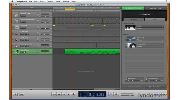 Editing the parameters of Software Instruments: GarageBand '11 Essential Training