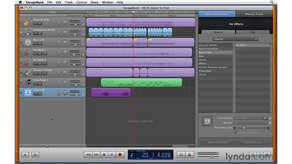 Recording lead vocals: GarageBand '11 Essential Training