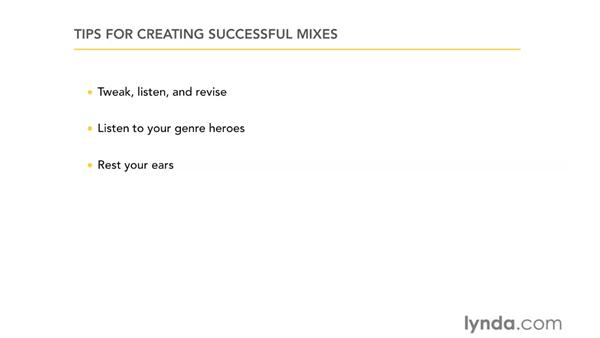 Creating successful mixes: GarageBand '11 Essential Training