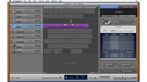 Equalizing tracks: GarageBand '11 Essential Training