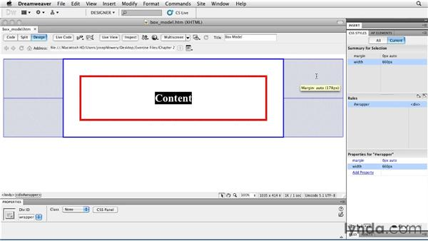 Reviewing the box model: Layouts with CSS in Dreamweaver