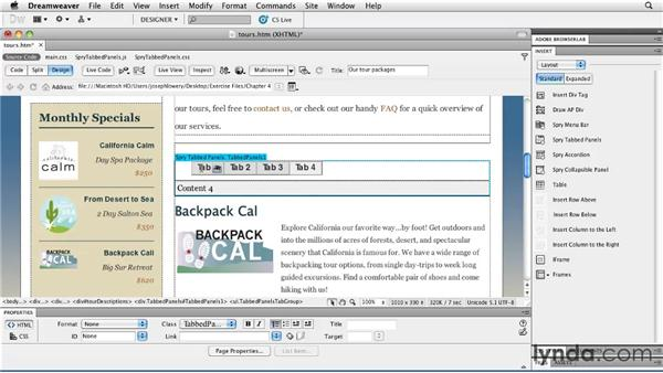 : Layouts with CSS in Dreamweaver