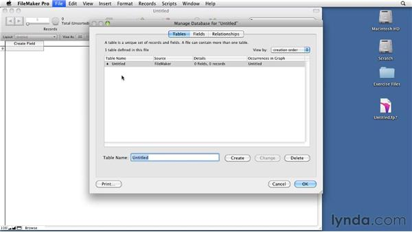 Defining tables: Relational Database Design with FileMaker Pro