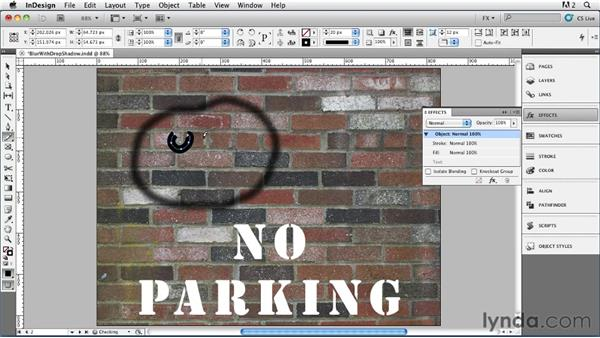 001 Blurring Objects with Drop Shadows: InDesign FX